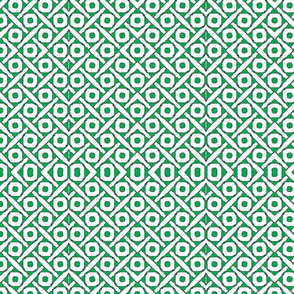 green and white circles squared