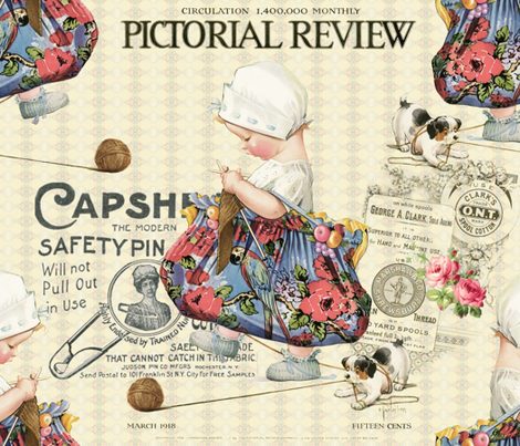 Pictorial fabric by peagreengirl on Spoonflower - custom fabric