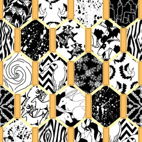 Black and Gold Quilt