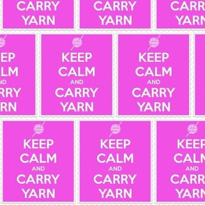 Keep Calm Carry Yarn Crochet - panel