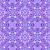 Black Crow Purple Kaleidoscope Pattern 1