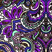 Purple Paisleys
