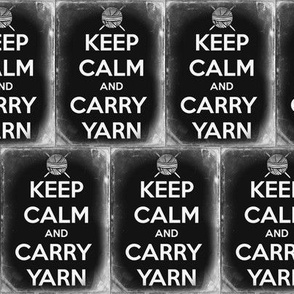 Keep Calm Carry Yarn Knitting - large tin solid