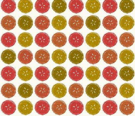Autumn pie flower dots fabric by scrummy on Spoonflower - custom fabric