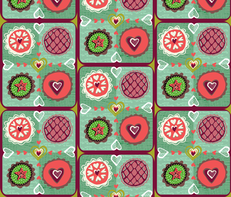 The Queen of Hearts fabric by slumbermonkey on Spoonflower - custom fabric