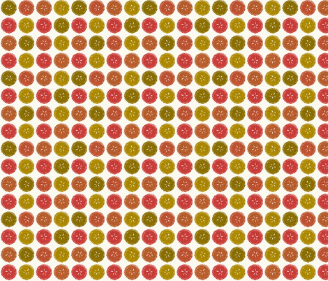 Autumn pie flower dots small fabric by scrummy on Spoonflower - custom fabric