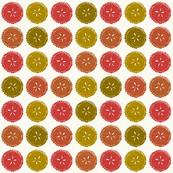 Autumn pie flower dots small
