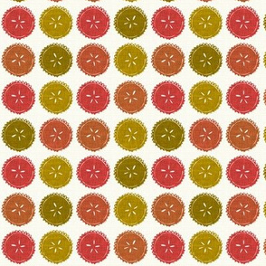 Autumn pie flower dots small