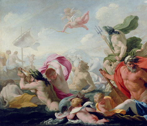 Marine Gods Paying Homage to Love  - Eustache Le Sueur (1638)