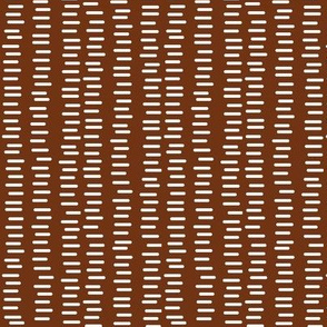 Running Stitch | Cocoa Brown