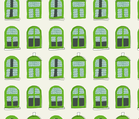 large windows pattern fabric by mummysam on Spoonflower - custom fabric