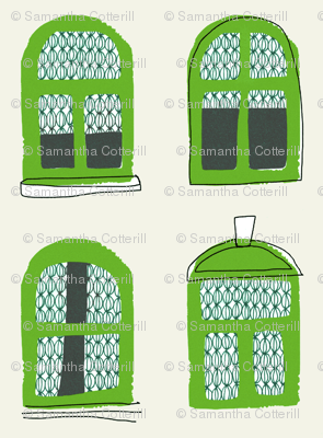 giant green windows