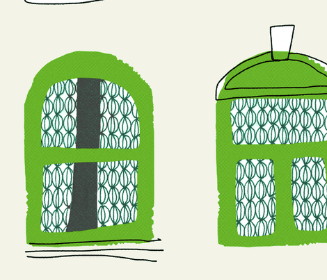 giant green windows fabric by mummysam on Spoonflower - custom fabric