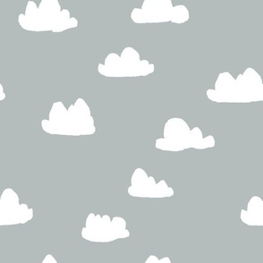 Clouds - Slate Gray by Andrea Lauren