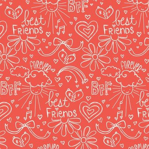 Befriended Doodles Red