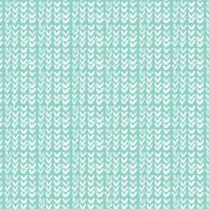 Hand Knit - 34 Aqua reverse