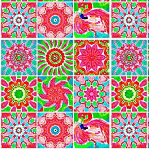 Flamingo Kaleidoscope Quilt