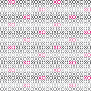 XOXO : grey + pink : small