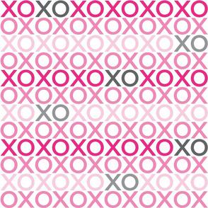 XOXO : pink + grey : big