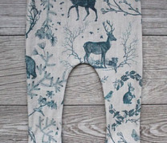 Woodland Winter Toile (in Teal)