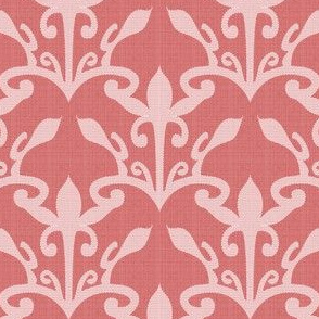 lace cutout  rose damask