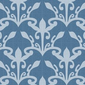 lace cutout marine blue damask