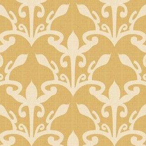 lace cutout gold damask