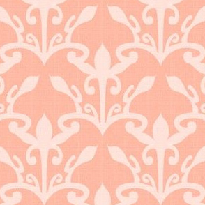 lace cutout pale coral damask