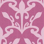 lace cutout raspberry  damask