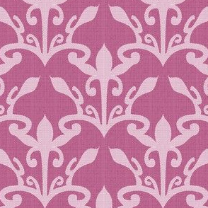 lace cutout raspberry  damask