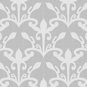 lace cutout pearl gray damask