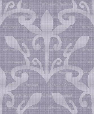 lace cutout mystic lavender damask