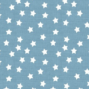 Ditsy Stars on Chambray Blue