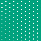 Ditsy Stars on Sea Green