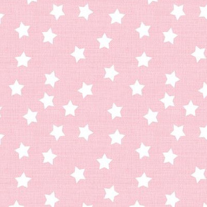 Stars in Baby Pink Linen