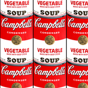 andy warhol campbell's vegetable can soup pop art fabric vintage retro