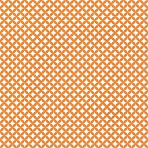 scallop grid : peach : small