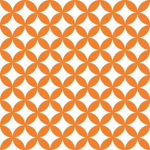 scallop grid : peach : large