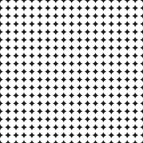circles : white + black : small