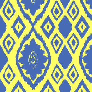 Blue and Yellow Ikat