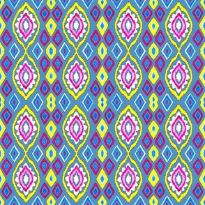 Multicolored Ikat