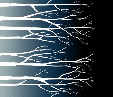 Winter Trees (Railroaded) fabric by terranacliff on Spoonflower - custom fabric