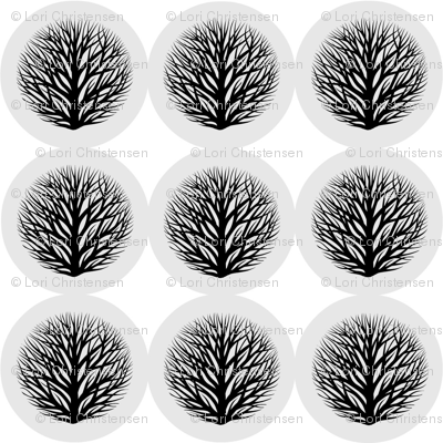 button branches B&W