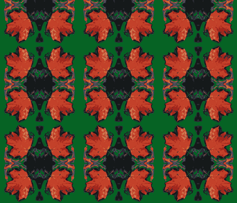 Tribal Maple Leaves fabric by lisakling on Spoonflower - custom fabric