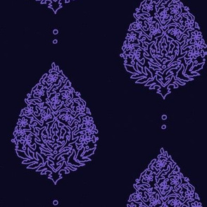 Moroccan Paisley Black and Purple