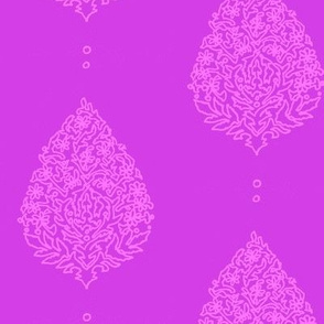 Moroccan Paisleys Purple