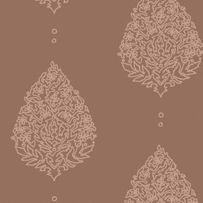 Moroccan Paisley Mocha