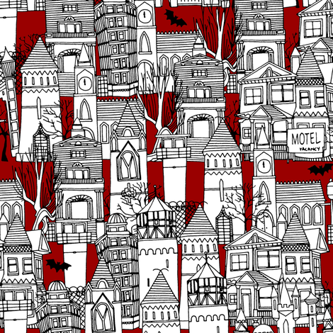 spooky fabric by scrummy on Spoonflower - custom fabric