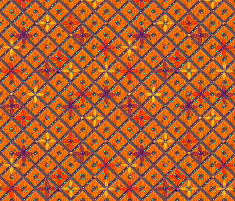 beaded trellis summer heat  fabric by glimmericks on Spoonflower - custom fabric