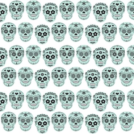 sugar skulls Dia de los Muertos fabric by allisonkreftdesigns on Spoonflower - custom fabric